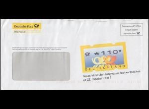 Freimachung e-Post - Werbebrief der Post für neue ATM Posthörner, September 1999