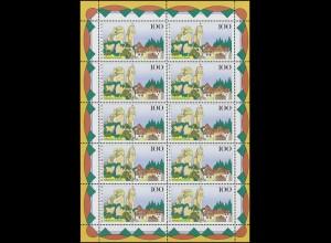 Ministerkarte Bund 421+422 Hauptstädte Typ IIIc, Marken **/ESSt Bonn+Mainz 1964