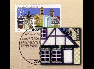 1271V Bad Hersfeld mit MICHEL-PLF weißer Fleck über Fenster / Feld.7, amtl. ETB