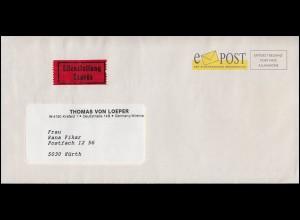 ePost - Der elektronische Briefservice, Eil-Brief, codiert, AK-O HÜRTH 10.3.93