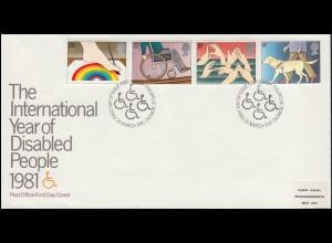 UNO Trio-FDC Tag der Vereinten Nationen, Blöcke auf FDC 1985