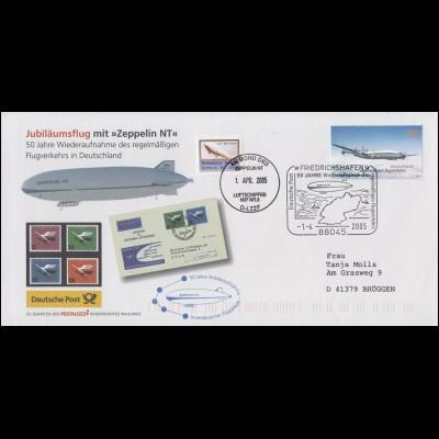 Luftschiffspost DKL 101 Zeppelin NT Wiederaufnahme SSt FRIEDRICHSHAFEN 1.4.05