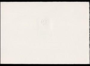 Ministereinladungskarte A5q SABRIA'70 Bonn 14.4.1979, ESSt Saarbrücken 29.4.70