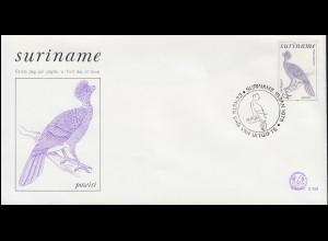 Surinam Vogel Powisi - Hokkohuhn 1979 auf Schmuck-FDC