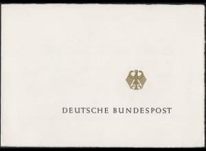 Ministersonderkarte A5q HEINEMANN 5 Pf & 1 DM, ESSt Bonn und Berlin 23.7.70