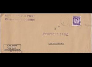Feldpost BRITISH FIELD POST H.Q. NAAFI in Deutschland Brief F.P.O. 2.4.1963
