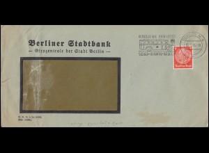 Firmenlochung MB auf Hindenburg 8 Pf. als EF auf Orts-Brief BERLIN 16.1.35