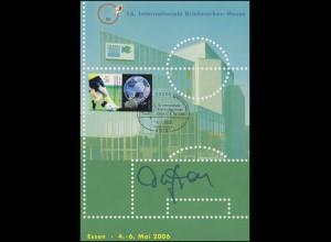 Messekarte ESSEN 2006: original Autogramm Fußballspieler / Weltmeister Olaf Thon