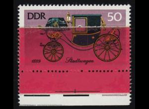 2152 Historische Kutschen 1976 - auf geklebter Papierbahn, **, FA Tichatzky BPP