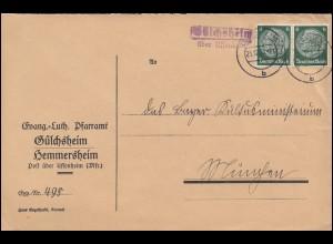 1-20 Schwarzaufdruck auf 3 R-Briefen mit Luftbrücken-O Berlin 16.10.48, FA BPP
