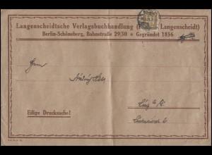 3 Pf EF auf Drucksache Buchhandlung Langenscheidt BERLIN - SCHÖNEBERG 26.6.25