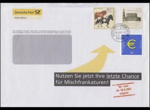 Philatelie-Brief Letzte Chance Mischfrankaturen bis 30.6.2002 FRANKFURT 16.5.92