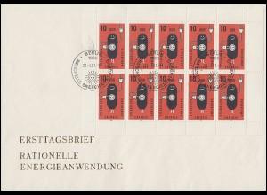126 Posthorn 6 Pf als EF auf Drucksache Weingut Kellerei Studert WEHREN 27.10.53
