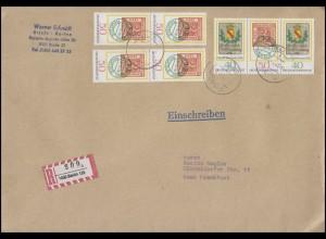 980-981 Tag der Briefmarke ZD W Zd 2 und 2x 50 Pf. MiF auf R-Bief BERLIN 5.4.84