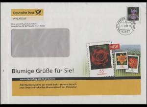 Plusbrief F328 Schwertlilie: Blumige Grüße, Weiden 9.6.2008
