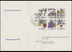 Ministerkarte Bund 447-450 Wofa Märchen Typ IIIc, Satz ** und ESSt Bonn 1964