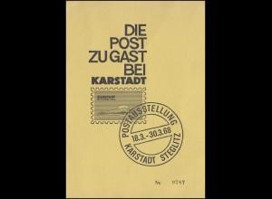 Ministersonderkarte Berlin MiSK Kammergericht KARSTADT SSt Berlin 18.3.1968