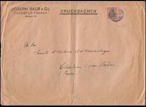 Firmenlochung JBC auf Germania 30 Pf. EF auf Drucksache FRANKFURT/MAIN 15.11.13