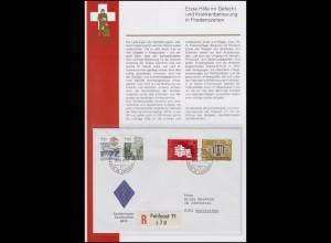 Schweiz Sanitätstruppen / Soldat PP 71 - FELDPOST 71 - 26.10.94 mit Beschreibung