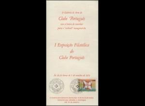 Brasilien Prospekt Ausstellung Club Portugal 1979,Marke mit Flagge SSt Sao Paulo