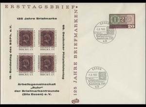 482 Briefmarken 1965 mit Sonderdruck ASSINDIA, Schmuck-Brief SSt Essen 6.9.65
