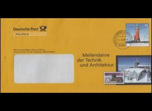 Plusbrief F 286 Leuchtturm Hoher Weg: Technik und Architektur, WEIDEN 4.2.08