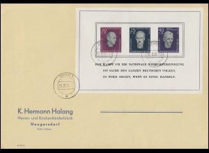 Strausberg 40 Wiederaufbau violett mit 937 R-Brief BERLIN Juli 1946