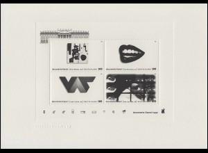 Block 39 dokumenta Kassel 1997: amtlicher Prägeschwarzdruck der Deutschen Post