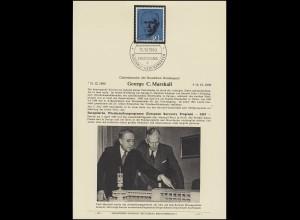 ETB E-B-Verlag Berlin: 344 Marshall - ERP, ESSt BONN 15.10.1960 (EB 13)