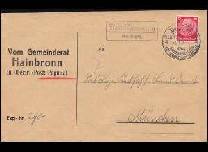 645+806 Heinemann-Kant MiF Paketkarte Olsenberg 10.12.75 nach Spanien 31.10.75