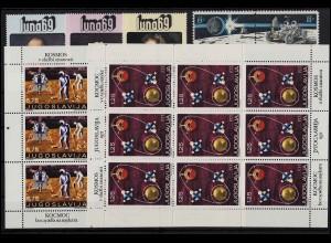 Weltraum - Steckkarte mit diversen Ausgaben, postfrisch ** / MNH (13964)