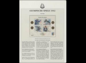 Norwegen 1992: Olympiasieger Winterspiele Oslo 1952, Block **