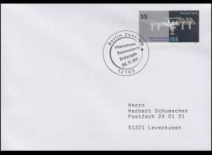 2433 Internationale Raumstation ISS im Orbit, FDC ESSt Berlin 4.11.2004