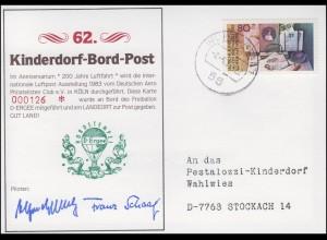 Ballonpost D-ERGEE Luftpost-Ausstellung AERO 200 Jahre Luftpost WUPPERTAL 2.6.83