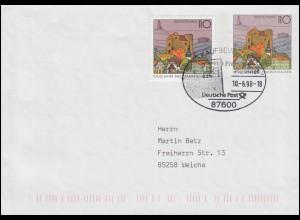 329 Passionspiele Oberammergau 1960, Schmuck-FDC 17.05.60