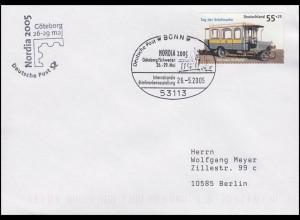 Tag der Briefmarke & Kraftpost, Bf SSt Bonn Ausstellung NORDIA Göteborg 26.5.05