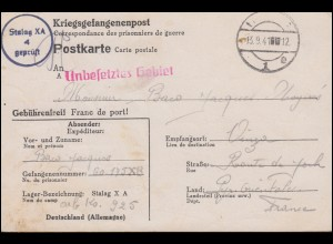 1-10 Wappen ohne 5 (10 Pf.) auf Faltkarte SSt KONSTANZ Weihnachtsmarkt 8.11.1946