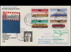Tag der Briefmarke & Kraftpost, Brief SSt Bonn Ausstellung NORDIA 26.5.2005