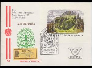 ATM 2.2.1X Sanssouci 6mal 20 +100+200 Pf. alle Teildruck auf R-Bf. Bonn 14.3.97