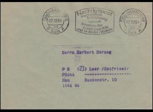 589+596 Nothilfe Volkstrachten R-Bf. ASF Vordemfelde ASCHAFFENBURG 7.1.36 + SSt