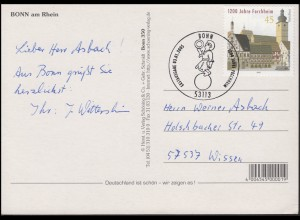 1200 Jahre Forcheim / Bayern & Rathaus, FDC AK Bonn, ESSt Bonn 3.1.2005