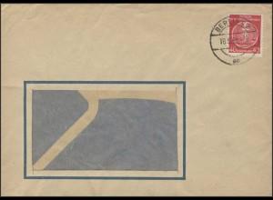 12x Dienst Zirkel 40 Pf EF Fensterbrief Berlin 18.5.1955