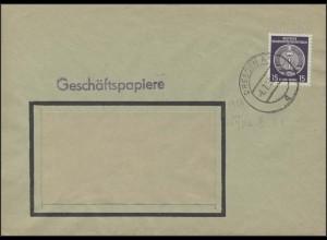21x Dienstmarke Zirkel 15 Pf EF Geschäftspapiere/Fensterbrief Dresden 6.7.56