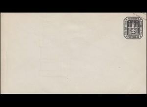 Hamburg Umschlag 1/2 Schilling, mit Wasserzeichen, ungebraucht **