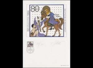 1233 Weihnachten St. Martin 1984, Entwurf: Steiner, original signiert