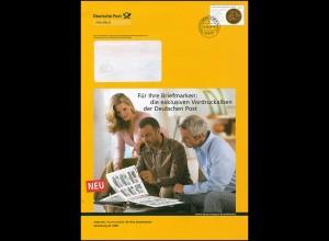 Plusbrief F 167 Goldene Bulle: Werbung für Vordruckalben, WEIDEN 16.10.06