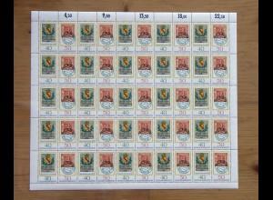 980-981 Tag der Briefmarke 1978 kompletter Schalterbogen / Zusammendruckbogen **