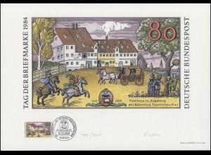 1229 Tag der Briefmarke 1984, Entwurf: Fischer-Nosbisch, original signiert