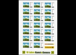 MARKE INDIVIDUELL 10 Jahre Kunst&Genuss: 20er-Bogen 58 Cent, ** postfrisch