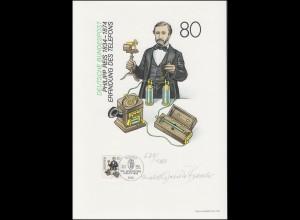 1198 Philipp Reis - Telefon, Entwurf: Janota-Bzowski, original signiert